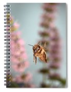 Honey Bee In Flight Spiral Notebook