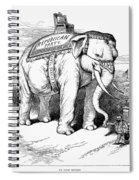 Presidential Campaign, 1884 Spiral Notebook