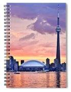 Toronto Skyline Spiral Notebook