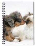 Puppy And Kitten Spiral Notebook