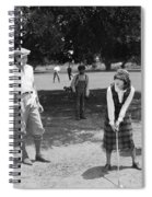 Silent Film Still: Golf Spiral Notebook
