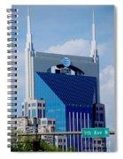 9th Avenue Att Building Nashville Spiral Notebook
