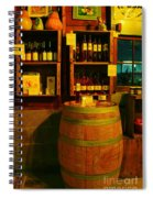 A Barrel And Wine Spiral Notebook