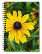 A Beautiful Close Up Of A Sunflower Spiral Notebook