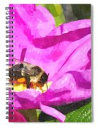 A Bee In A Rose Brpwc Spiral Notebook