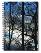 A Blue Winter's Eve Spiral Notebook