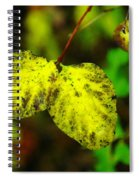 A Bright Yellow Dying  Spiral Notebook