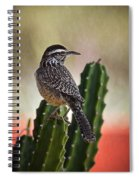 A Cactus Wren  Spiral Notebook