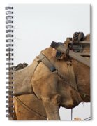 A Camel Foraging For Food In A Desert Environment Spiral Notebook