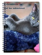 A Cats Function Spiral Notebook