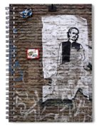 A Character On The Wall Spiral Notebook