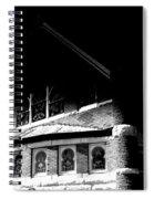 A Church On A Dark Night Spiral Notebook