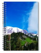 A Cloud Near Mt Rainer  Spiral Notebook