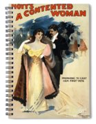 A Contented Woman, C1898 Spiral Notebook