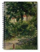 A Corner Of The Garden In Rueil Spiral Notebook