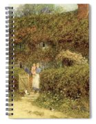 A Cottage At Freshwater Isle Of Wight Spiral Notebook