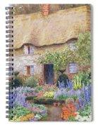 A Cottage Garden In Full Bloom Spiral Notebook