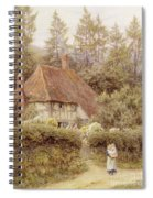A Cottage Near Haslemere Spiral Notebook