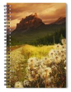A Country Road With A Mountain In The Spiral Notebook