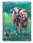 A Cow And Her Calf Spiral Notebook