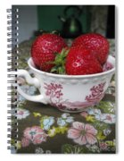A Cup Of Strawberries Spiral Notebook