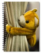 A Curtain With A Cute Stuffed Toy Spiral Notebook