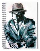 A Dapper Brit-portrait Of Ron Moody Spiral Notebook