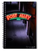 A Dark And Lonely Post Alley - Seattle  Spiral Notebook