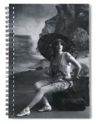 A Day At The Beach 1911 Spiral Notebook