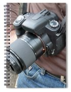 A Digital Camera Is The Chief Tool Of This Photographer Spiral Notebook