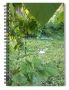 A Dot Of White Spiral Notebook