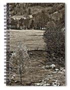 A Far Valley Sepia Spiral Notebook