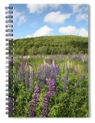 A Field Of Lupines Spiral Notebook