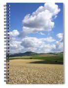 A Field Of Wheat Auvergne. France Spiral Notebook