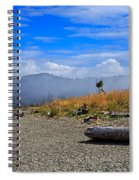 A Foggy Morning At Whiffin Spit Spiral Notebook