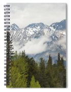 A Forest And The Rocky Mountains Spiral Notebook