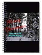 A Forest Christmas Spiral Notebook
