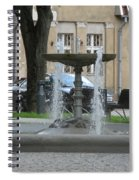 A Fountain In Silute Lithuania Spiral Notebook