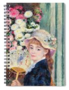 A French Girl With A Fan Spiral Notebook