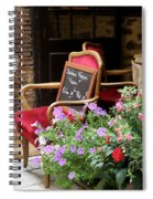A French Restaurant Greeting Spiral Notebook
