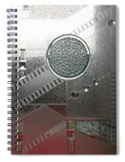 A Frosted Glass Window With An Interesting Pattern Spiral Notebook