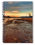 A Frozen Shore Spiral Notebook
