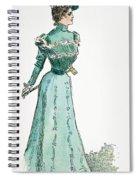 A Gibson Girl, 1899 Spiral Notebook
