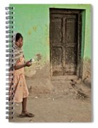 A Girl By A Door Spiral Notebook