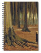 A Girl In A Wood Spiral Notebook