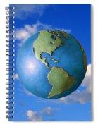A Globe In The Sky Spiral Notebook