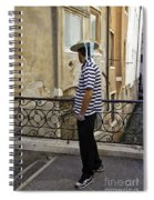 A Gondolier In Venice Spiral Notebook