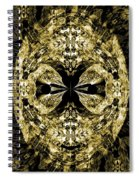 A Gothic Guise Of Gold Spiral Notebook