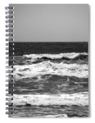 A Gray November Day At The Beach - II  Spiral Notebook