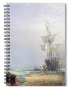 A Hazy Morning On The Coast Of Devon Spiral Notebook